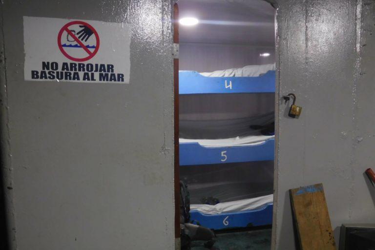 El Chocó, beds on a cargo ship