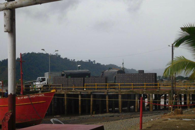 El Chocó, the pier in El Valle