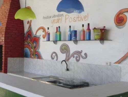 Keuken in hostel