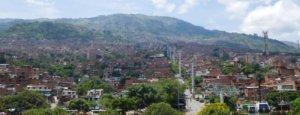 Kabelbaan naar buitenwijk in Medellín