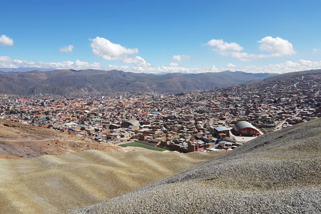 Uitzicht over Potosí in Bolivia