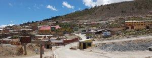 Ingang mijnen van Potosí