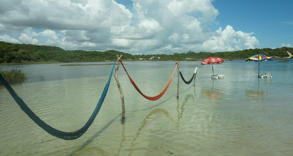 Hangmatten in water